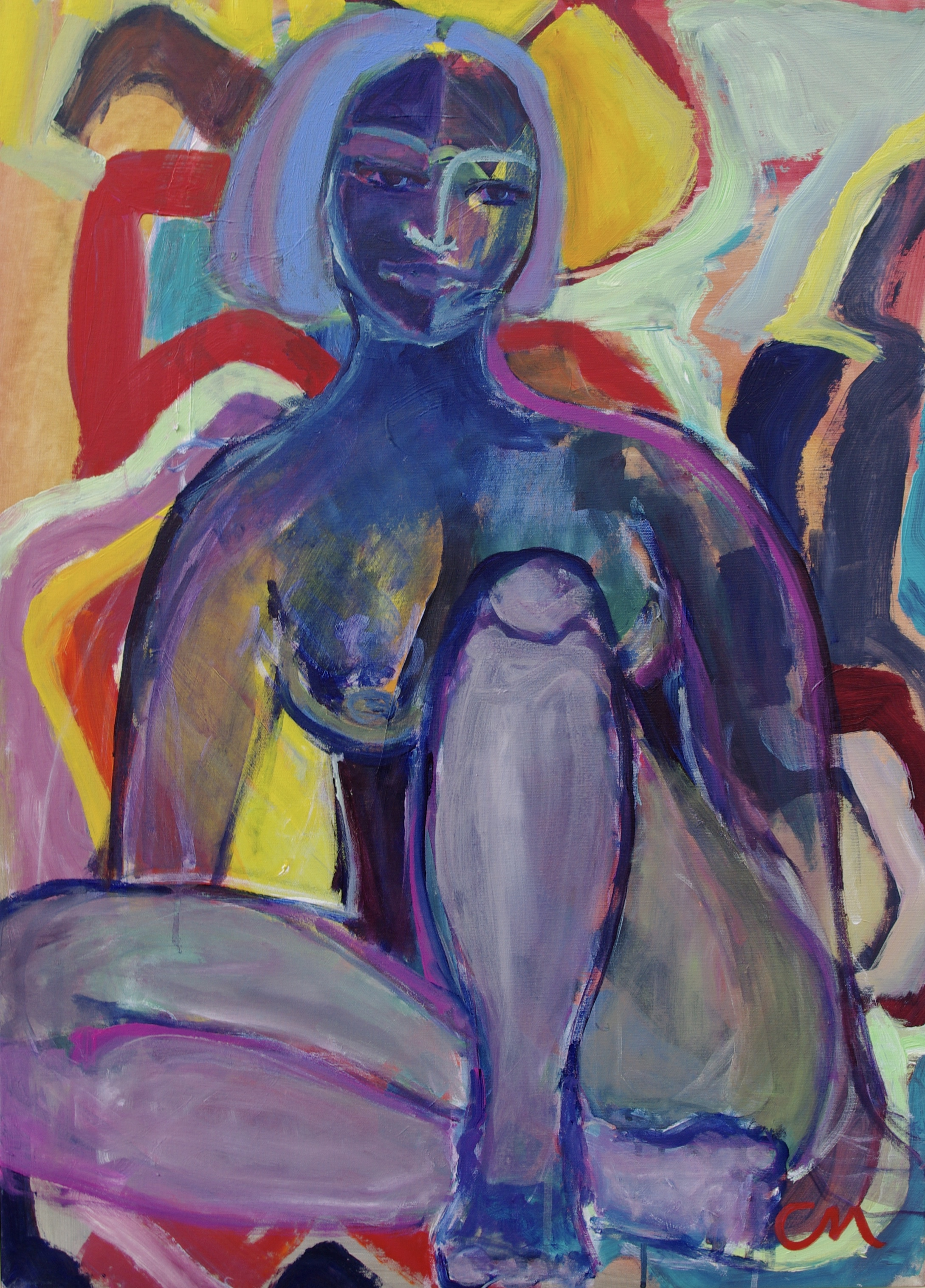 Sitting by the Time 83x60cm