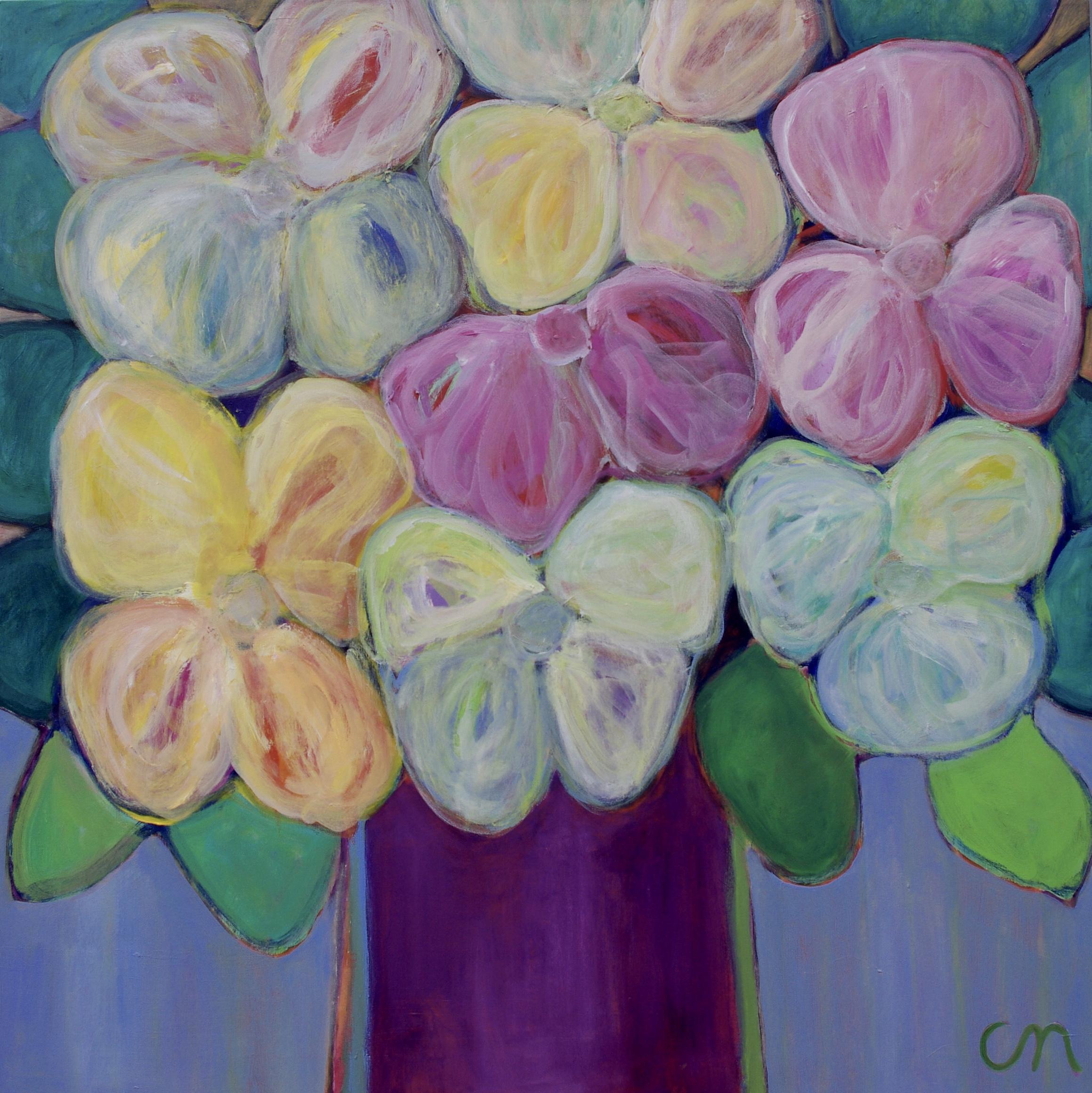 Butterflyflowers 96x96cm